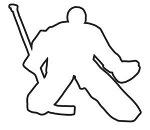 Aufkleber Eishockey Torwart I outline