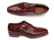 Paul Parkman Men's Double Monkstrap Goodyear Welted Shoes (ID#061-BRD)