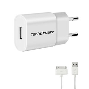 Chargeur et cable pour Samsung Galaxy Tab 1 Tab 2 P3100 P5100 P5110 1m blanc