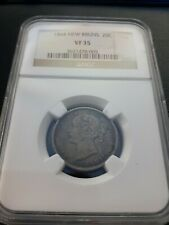 1864 New Brunswick Canada 20 Cents NGC VF 35
