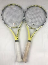 Lot of 2 Head Extreme Pro Mid Plus Tennis Racquet 4 1/8 #1 Pre Owned VGC Yellow