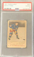 1951 1952 PARKHURST Jack Evans PSA 2 GD Good #90 HOCKEY