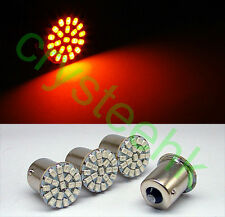 4 x 1156 BA15S P21W 1206 22-SMD LED Tail Signal Light Car Light Lamp Yellow Bulb