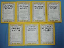 National Geographic Magazine ~ 1946 year set -- (7 of 12 issues)