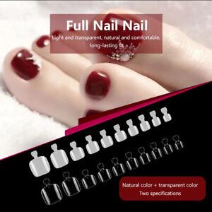100PCS False Artificial Toe Nails Tips Detachable Natural Manicure DIY Art Tools
