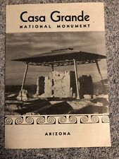 Casa Grande National Monument Arizona Travel Brochure Booklet 1958