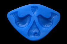 Sugarcraft Silicone Molds Sugarpaste Fondant Mould Cake Decorating Heart Bird