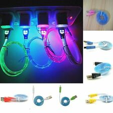 PINK LED Light-up USB Data Charger Cable Charging Cord for Android Cell Phone