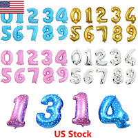 """US 40"""" Giant Foil Helium Large Letter Number Balloons Birthday Wedding Party"""