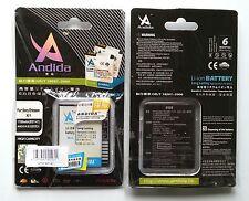 Batteria maggiorata originale ANDIDA 1780mah x Sony Faith A8 A8i Zeus