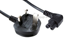 1,8 m C5 cloverleaf Laptop Cable de alimentación en ángulo recto de extremo a 3 Pin Mains Reino Unido Enchufe