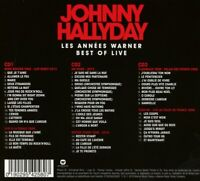 JOHNNY HALLYDAY - BEST OF LIVE DIGIPAK 3 CD NEU