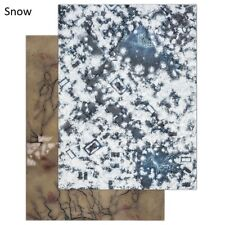 - SNOW GAMING BOARD (reversible) - warcry winter ice frozen snowy warhammer AoS