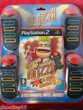 BUZZ LE QUIZZ MUSICAL PLAYSTATION 2 NEUF BUZZ LE QUIZZ MUSICAL PS2 + 4 BUZZERS