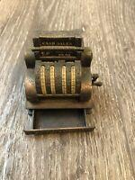 Vintage Mini National Cash Register Die Cast Metal Desk Pencil Sharpener