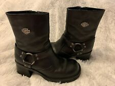 Harley Davidson Motorcycle Leather Biker Boots Womens Size 7