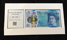 UK Polymer £5 Banknote Only 5000 Presentation Boxed Date Stamped Collectors Item