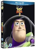 TOY STORY 3 [Blu-ray 3D + 2D] 2010 Disney Pixar Movie w/ UK Limited Ed Slipcover