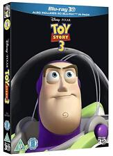 TOY STORY 3 [Blu-ray 3D + 2D] 2010 Disney Pixar Movie w/ UK Limited Ed Slipcover