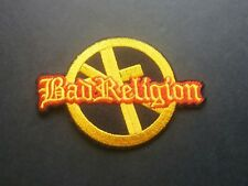 PUNK ROCK HEAVY METAL MUSIC SEW / IRON ON PATCH:- BAD RELIGION