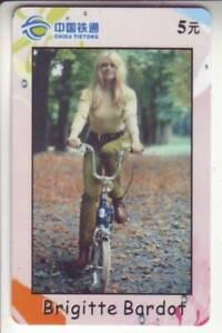 Asien :  tolle schöne Telefonkarte - Brigitte Bardot - sexy Girl ( 147 )