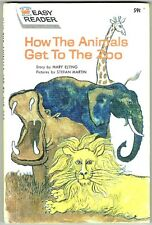Vintage Children's Wonder Books Easy Reader HOW THE ANIMALS GET TO THE ZOO