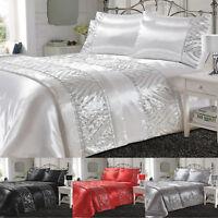 Shimmer Elegant Duvet Cover Set Single Double Super King Pillowcase running