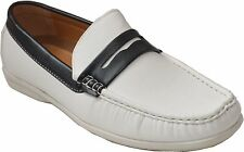 New Men's casual Driving Shoes Moc-Toe Moccasins Slip On Loafers- Gamez/Whit/Blk