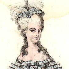 Portrait XIXe Marie Antoinette Reine de France Révolution Française 1839