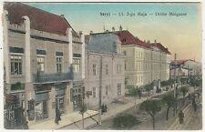 Ukraine, Poland, Stryj, Ul. 3-go Maja, Street Scene with Shops, Old Postcard