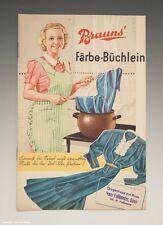 Heft Brauns Färbe-Büchlein um 1940