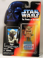 Star Wars Power of the Force Yoda Figure Kenner 1995 POTF Red Card