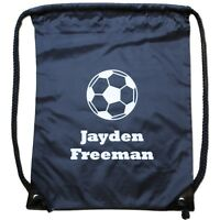 Personalised Football Pump Bag Pe Kit/Swimming Drawstring Gymsac School/Nursery