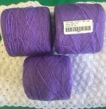Lace yarn Crystal Color Lilac Acrylic/Rayon.900 yds per ball. 1 lot of 3 balls.