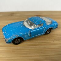 Matchbox Superfast 1-75 No.14 ISO Grifo - Blue - Wide Wheels - 1972-73.
