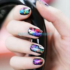 New Lot of 50Pcs Multi Color Foil Galaxy Nail Sticker Paper Shiny Decal Art DIY