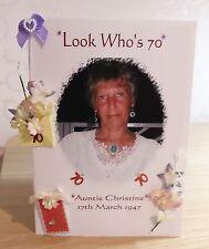 Handmade Personalised Photo birthday Card Mum/Nan/Sister/Gran/Friend