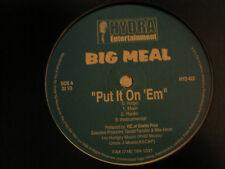 "BIG MEAL PUT IT ON 'EM / PIMPS, PLAYERS, MACKS 12"" 1998 RARE INDIE RAP JUJU NM-"