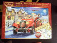 FALCON 1000 PIECE JIGSAW SANTA'S CHRISTMAS PRESENT COMPLETE VGC FREE UK POST