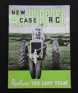 """GENUINE 1938 CASE """"NEW ALL-PURPOSE RC TRACTOR"""" CATALOG BROCHURE VERY NICE"""