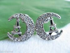 Screw Back (pierced) Platinum Fine Earrings