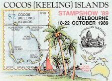 1989 Cocos Keeling Islands, Melbourne Exhibition Overprinted Mini Sheet