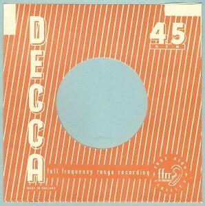 DECCA (orange stripey) - REPRODUCTION RECORD COMPANY SLEEVES - (pack of 10)