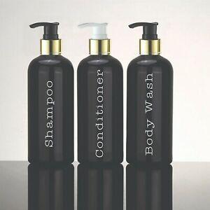 Vinyl Bathroom Labels. Shampoo Conditioner & Body Wash. Organised Home. Decal.
