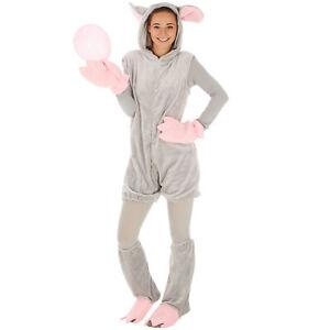 Maus Mäuse Kostüm Frauen Männer Karneval Fasnacht Halloween grau Spitzmaus