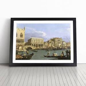 Giovanni Canaletto Riva Degli Schiavoni, Venice Framed Picture Print Wall Art