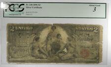 1896 $2 FRN SILVER CERTIFICATE FR 248 ~ PCGS AG 3 ~ FRESH HOLDER!