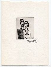 Vintage Theo Humblet Etching, Signed – Listed Belgian Artist