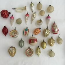 VINTAGE LOT OF 28 GERMAN CHRISTMAS TREE ORNAMENTS