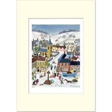 Winter Village - Leslie Woods - Medici Mounted Print